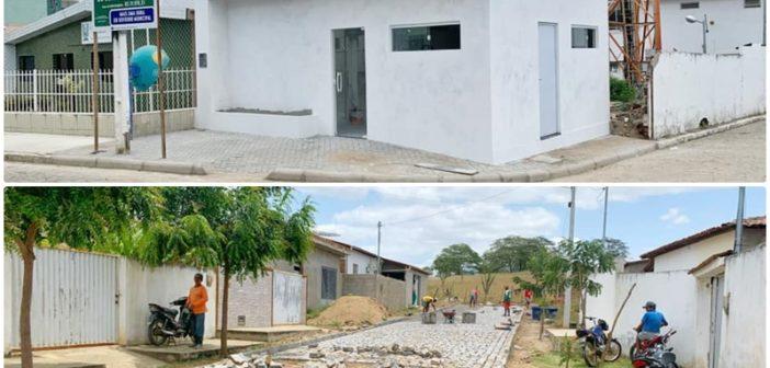 Seguem as obras da sede do Conselho Tutelar e pavimentação no bairro Antônia Evangelista (Mocóis)