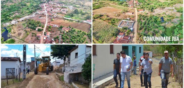 ITATUBA: Jurema e Juá ganham pavimentação. Prefeito e secretários visitam as comunidades e autorizam início das obras